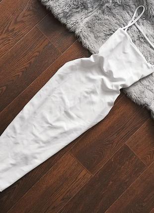 Платье на бретелях миди с открытой спиной