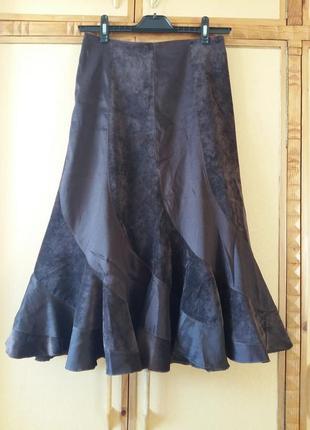 Вельветовая юбка-годе