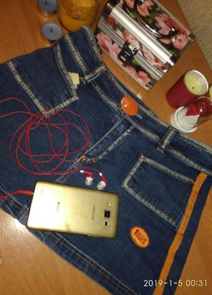 Юбка джинсовая touch с лампасами