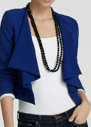 Ультрамариновый укороченный пиджак, блейзер dorothy perkins  на 48-50 размер