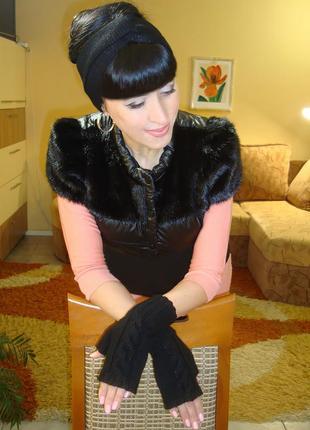 Митенки перчатки без пальцев женские - casual & classic