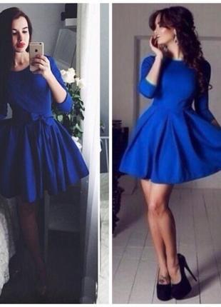 Платье синего цвета l