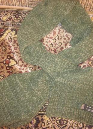 Фирменный теплый шарф шерсть