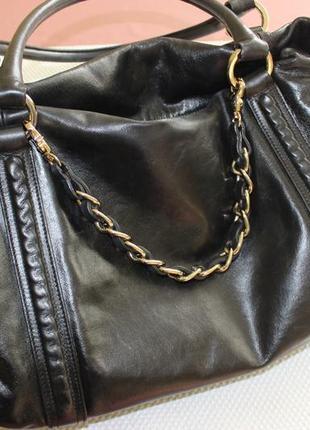 28х38см coccinelle кожаная вместительная сумка на коротких ручках2 фото