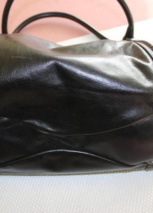 28х38см coccinelle кожаная вместительная сумка на коротких ручках3 фото