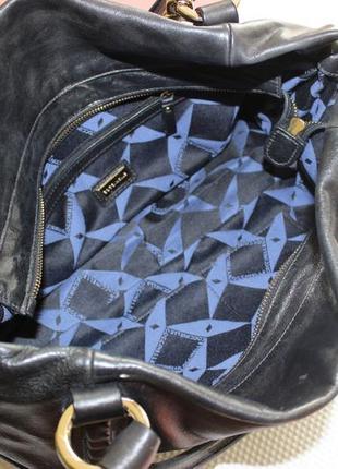 28х38см coccinelle кожаная вместительная сумка на коротких ручках4 фото