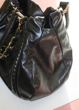 28х38см coccinelle кожаная вместительная сумка на коротких ручках5 фото