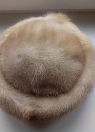 Норковая шапка дамская 59 размер