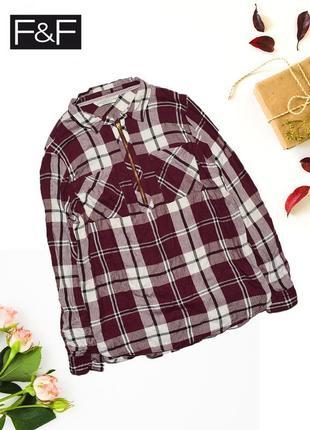 Рубашка с молнией на груди f&f
