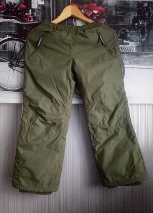 Теплые зимние водонепроницаемые штаны на рост 140см