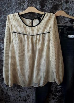 Блуза в горох h&m