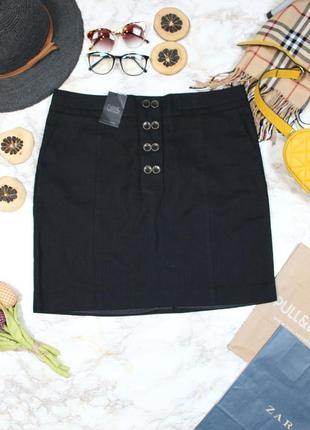 Обнова! юбка классика карандаш миди офисная с пуговицами новая натуральная