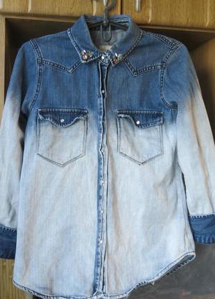 Крутая джинсовая куртка pull&bear
