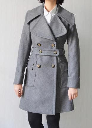 Шерстяное двубортное пальто burberry
