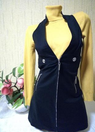 Обалденный сарафан, платье из плотной ткани с кармашками