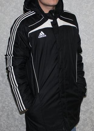 Зимняя длинная куртка adidas
