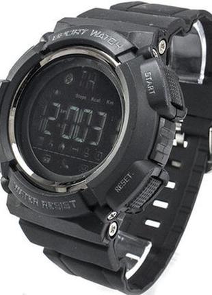 Мужские спортивные часы skmei 1245 black с bluetooth