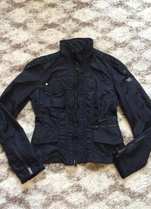 Фирменная куртка-ветровка dekher italy,черная курточка,весна-осень+подарок