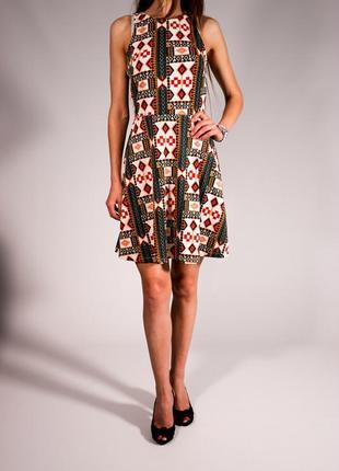 Платье с принтом плотный трикотаж