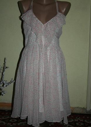 Летнее коктейльное платье оттенка чайной розы guess