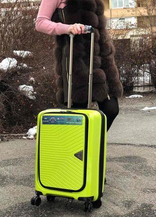 Качество! чемодан из полипрлпилена для ручной клади airtex франция пластиковый чемодан
