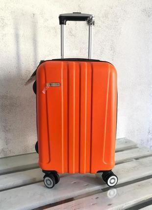 Качество! чемодан из поликарбоната для ручной клади airtex франция пластиковый чемодан