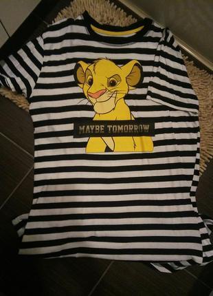 Удлиненная футболка симба