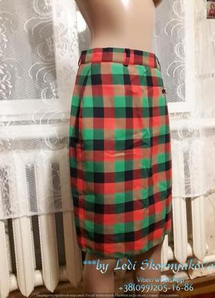 Новая юбка-карандаш в клетку, размер м-л