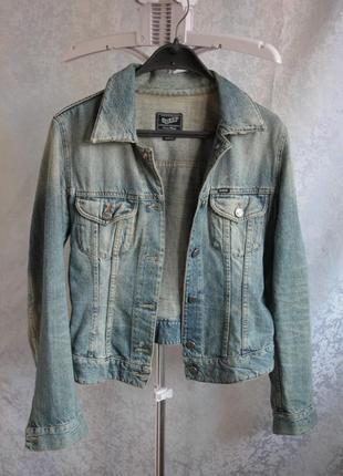 Крутая фирменная куртка джинс gas
