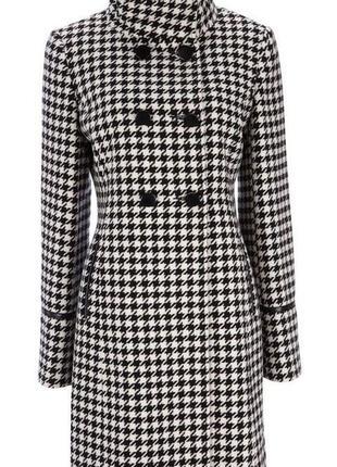Обнова! пальто шерсть принт гусиная лапка новое бренд wallis