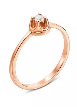 Золотое кольцо 16.5 вес 1.74 грамм
