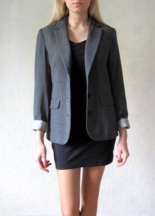 Приталенный классический пиджак жакет h&m
