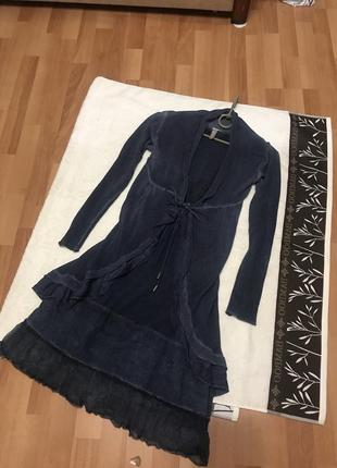 Костюм платье кардиган большой размер