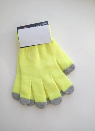 Трикотажные яркие перчатки terranova