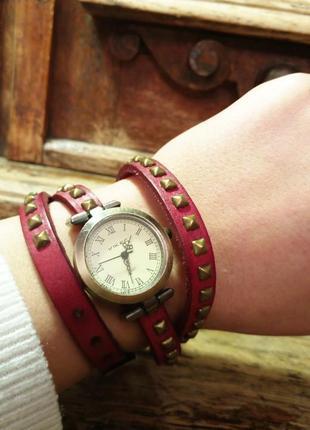 Часы наручные кварцевый механизм кожа