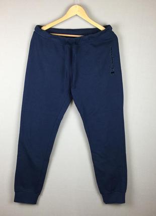 Темно синие хлопковые спортивные штаны champion треники чемпион италия