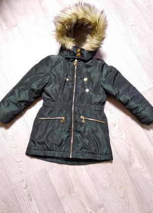 Теплая зимняя куртка курточка парка очень теплая и красивая