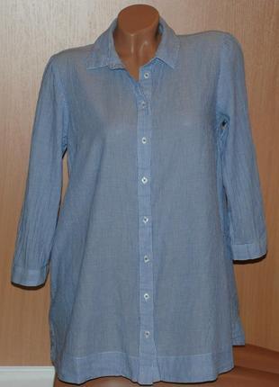 Рубашка бренда tu/ хлопок/ свободный покрой с расширением к низу/