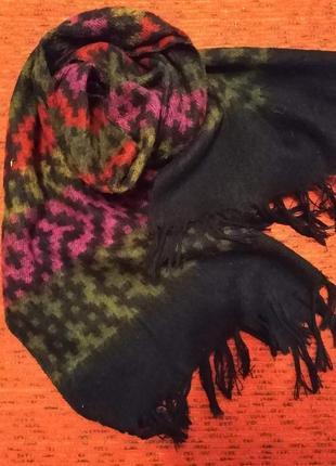 Стиль 1970-х, мужской шарф   из мягкой натуральной шерсти, двухсторонний