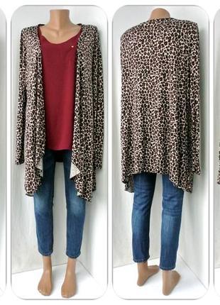 Большой выбор модный кардиган, накидка tg с леопардовым принтом. размер uk 18,oversize.