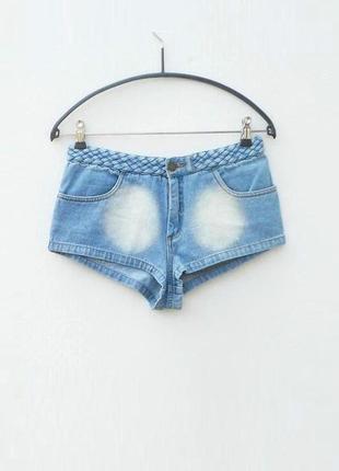 Летние пляжные потертые джинсовые шорты