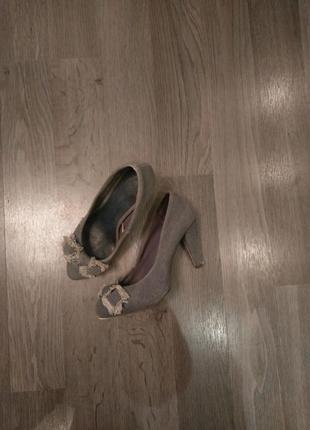 Джинсовые туфли zara