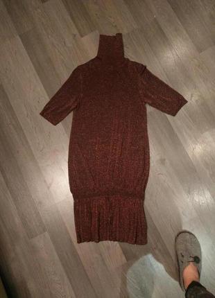 Платье-туника oggi с металлизированной нитью