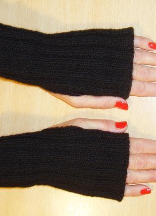 Митенки перчатки без пальцев - хит сезона