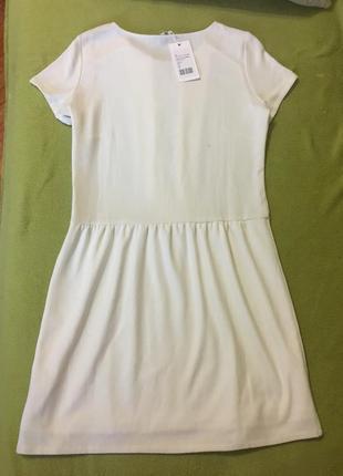 Шикарное белоснежное фирменное платье mint&berry