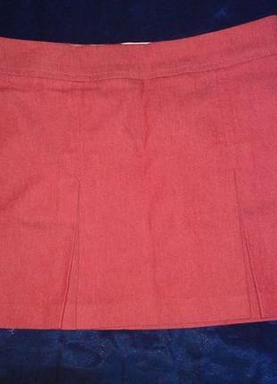 Красная мини юбка topshop