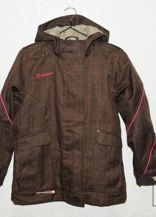 Женская/подростковая горнолыжная куртка zeiner 152, зимняя термо сноуборд/лыжи