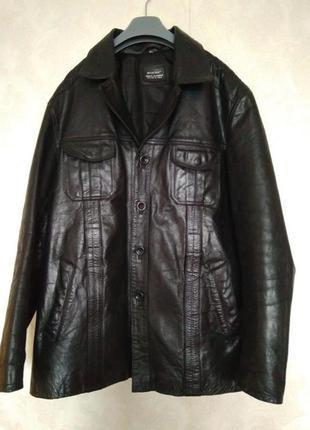 Кожаная куртка пиджак знаменитого бренда aviatrix,р.3хл