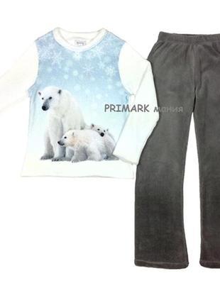 Женская флисовая 3d пижама все размеры primark