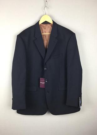 Синий пиджак brook taverner новый классический блейзер